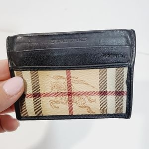 BURBERRY unisex  check credit cards case used